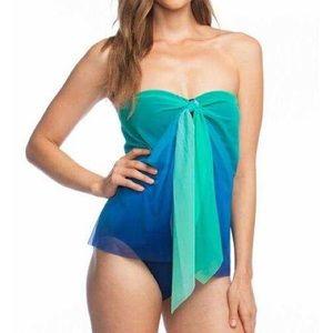 NWT Ralph Lauren ombré flyaway one piece swimsuit
